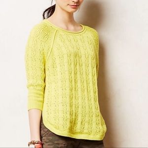 Sparrow Chartreuse Yellow knit sweater M